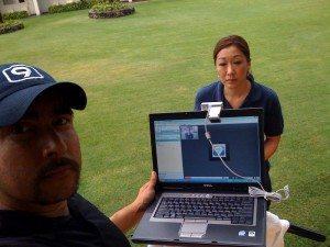 Skype live shot
