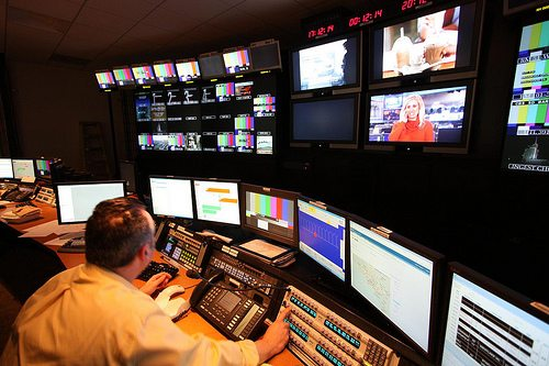 TV control room by Dave Malkoff