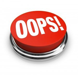Oops button image via Shutterstock