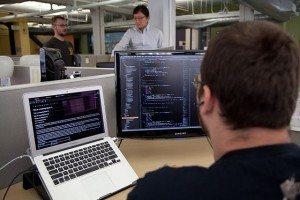 Coder at work