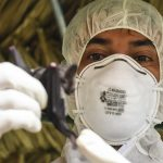 A health official working on infectious disease outbreak